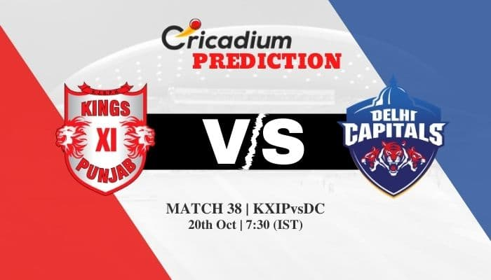 IPL 2020 Match 38 KXIP vs DC Match Prediction Who Will Win Today IPL