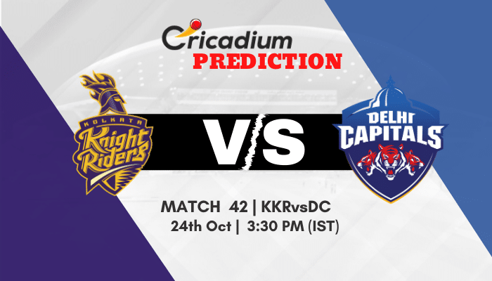 IPL 2020 Match 42 KKR vs DC Match Prediction Who Will Win Today IPL