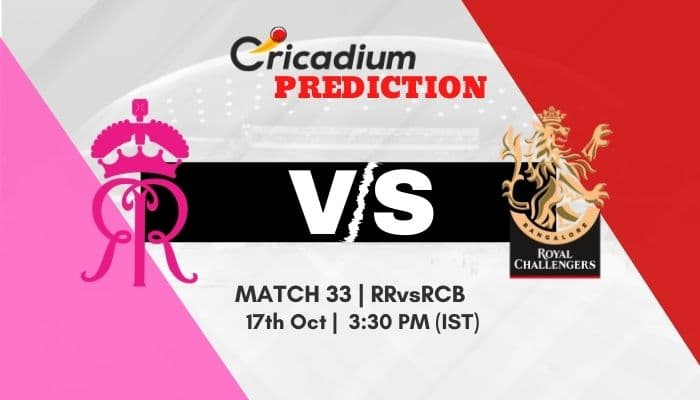 IPL 2020 Match 33 RR vs RCB Match Prediction Who Will Win Today