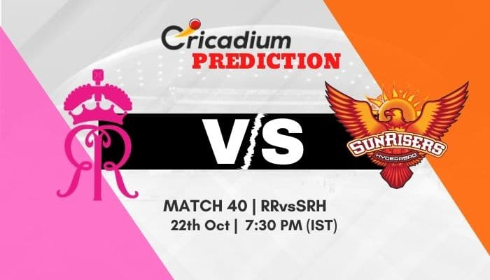IPL 2020 Match 40 RR vs SRH Match Prediction Who Will Win Today IPL