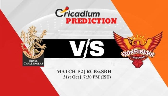 IPL 2020 Match 52 RCB vs SRH Match Prediction Who Will Win Today IPL