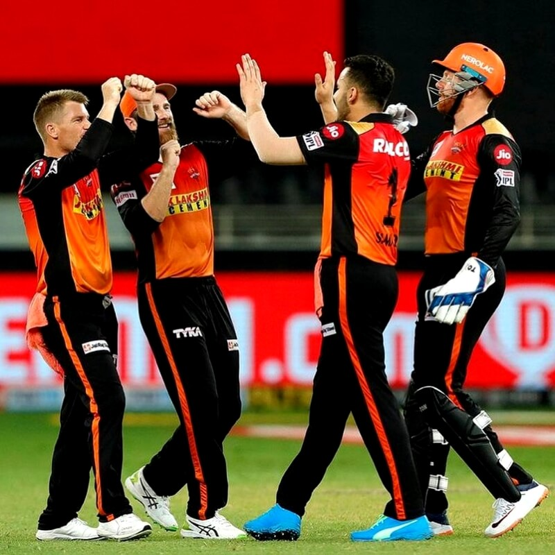 Sunrisers Hyderabad are at the 3rd position with 14 points
