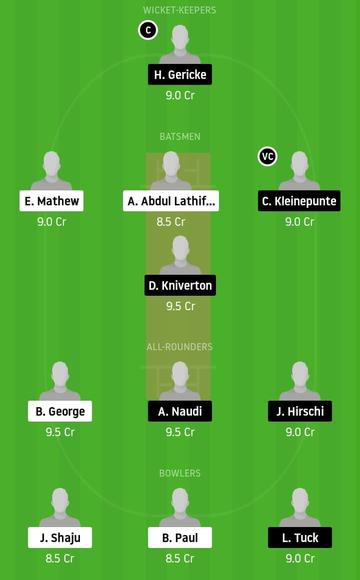 Knight Kings CC vs Overseas CC Dream11 team