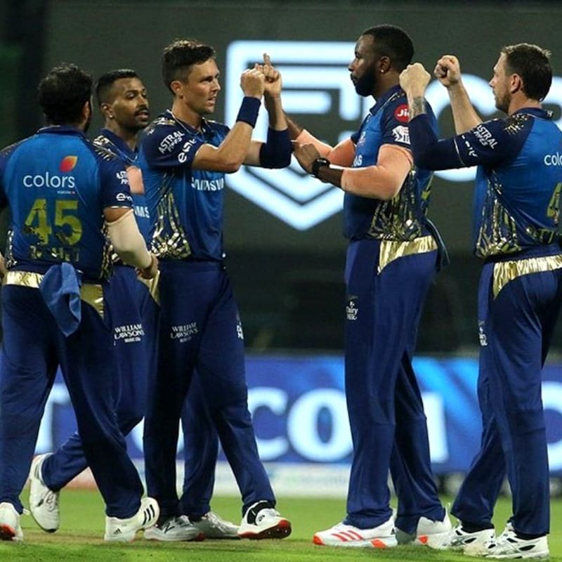 Mumbai Indians are at the 1st position in the points table with 18 points